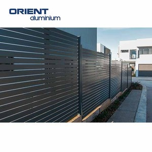 Custom cheap aluminium garden slat fence