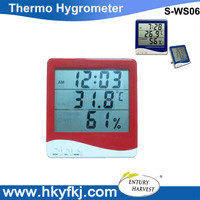High-accuracy LCD Digital Hygrometer Thermometer Electronic Temperature Humidity Meter Clock Weather Station (S-WS06)