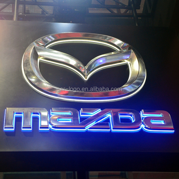 Acrylic Light-Weight Luxury Manufacture 3D Standard Sound Huge Size Custom 4S Store Acrylic Led Outdoor Lighting Car Logo