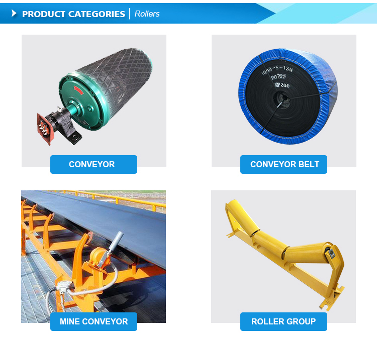 Carrier Trough Idler Conveyor Roller Support Steel Gravity Carrying Idler