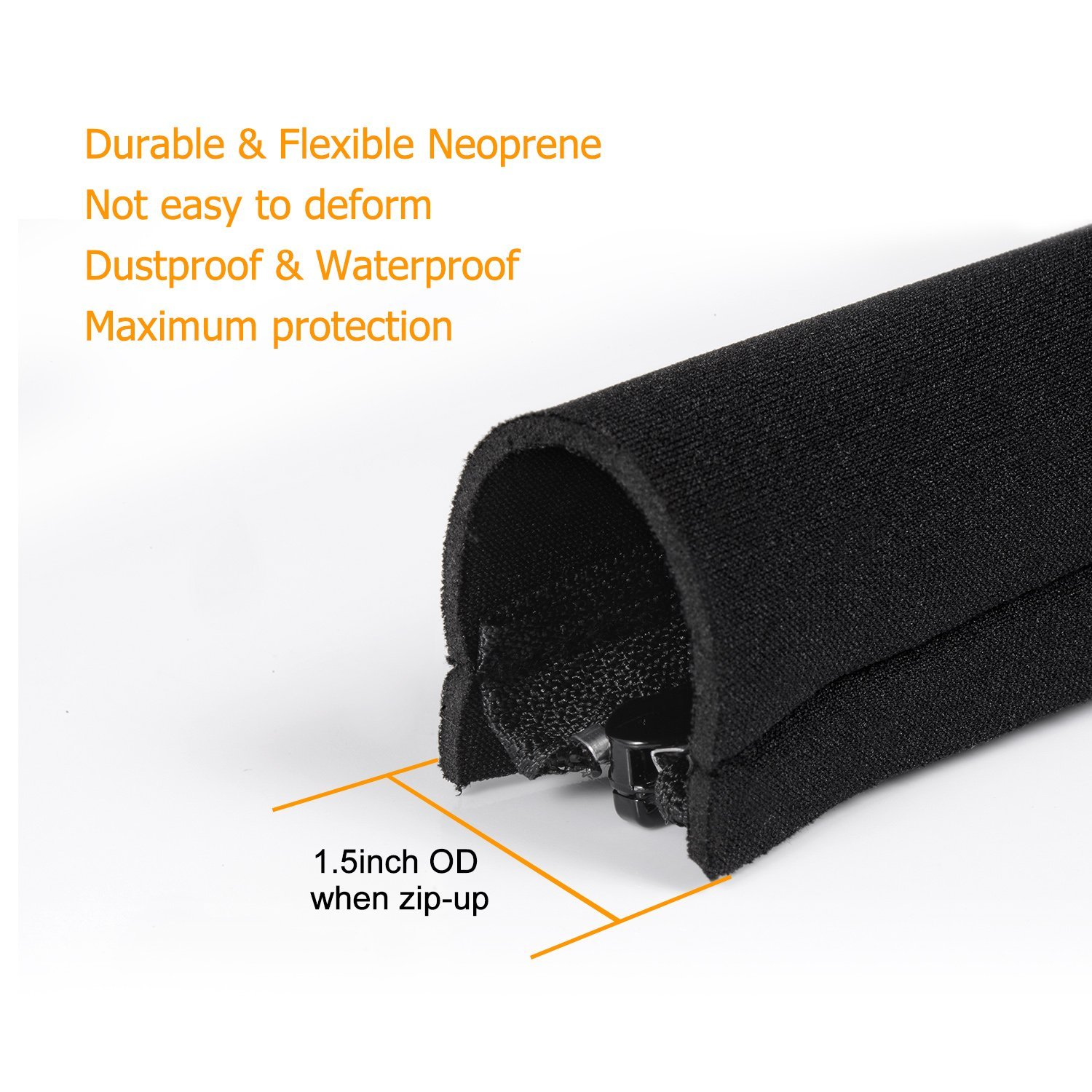 Flexible Neoprene Cable Organizer Wrap Cable Management Sleeve with Zipper