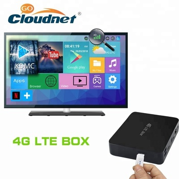 Cloudnetgo Quad Core Amlogic S905X Firmware Update Android TV Box With 4G Sim Card Slot
