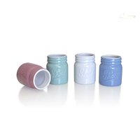 Wholesale Color Small Storage Ceramic Mason Jar