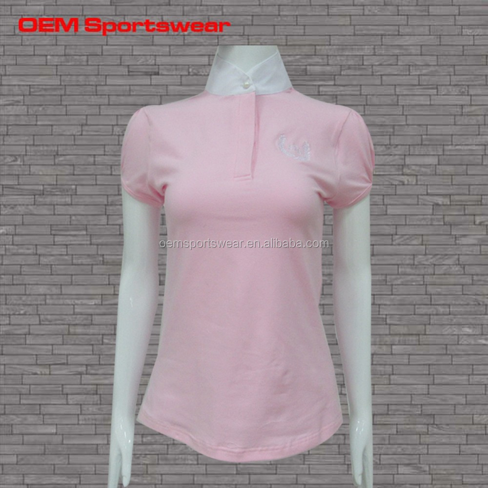 women sublimation polo tee shirt