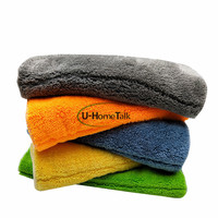 U-HomeTalk UT-MF070 Houseware Microfiber Solid Color Car Wash Cleaning Cloth Lint-free Cleaning Towels Premium Microfiber 950GSM