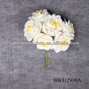 PU artificial rose for family decorative wedding flowers long stems