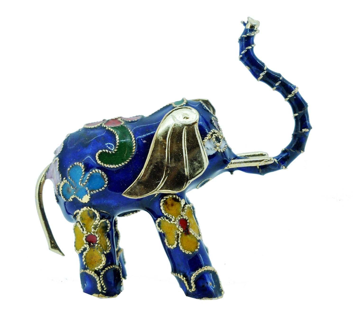 Buy Hinky Imports Cloisonne Enamel Feng Shui Elephant Statue For