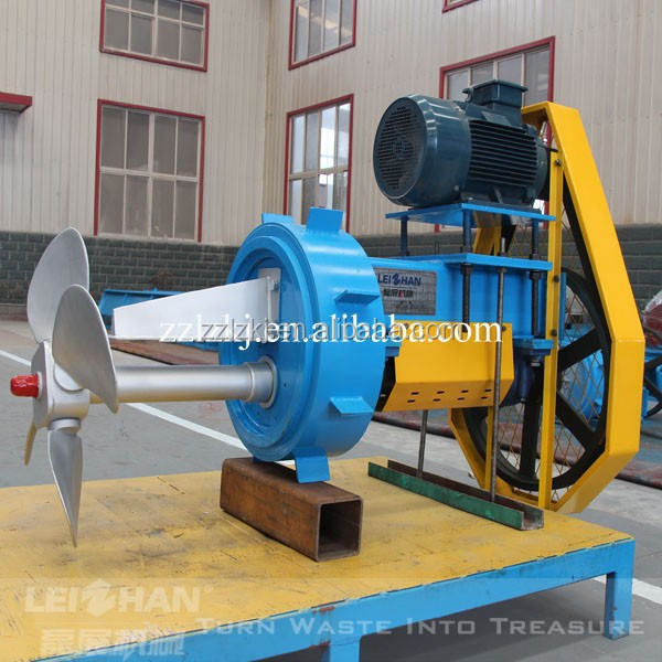 Square pulp pool stirrer for pape making industry