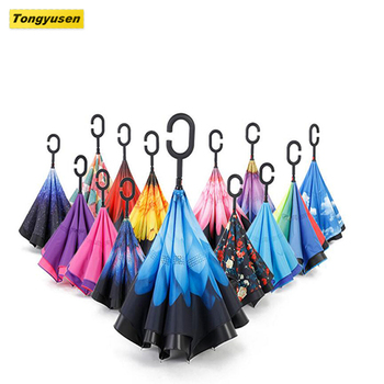 Promotion New Type Straight Umbrella Reverse Inside Out
