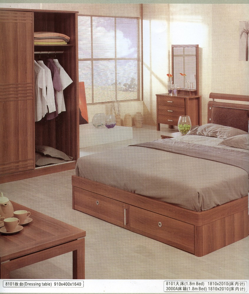 Walnoot kleur klassieke gecontracteerd reële chinees houten bed ...