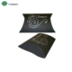 2017 folding mini pillow gift box black pillow box with silver stamped logo