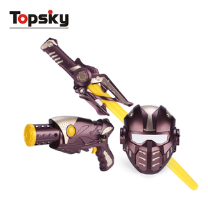 Super toy gun set with sound light up gun set toy sword toy gun