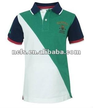 94be57ec242ca Verano de 2012 nuevo diseñador de moda camisas de polo para niños de la  Universidad combinación