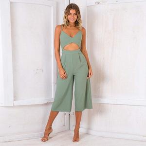 1f5e5c5af92 2019 Women Fashion New Zip Backless Jumpsuit Sexy Style Ladies Summer  Jumpsuit Elegant Womens Jumpsuit