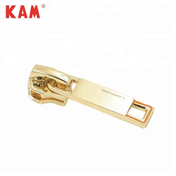 Custom Gold Kledingstuk Metalen Vergrendeling Rits Puller Slider