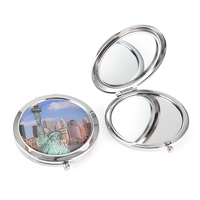 crystal mirror customized metal compact mirror for ladies