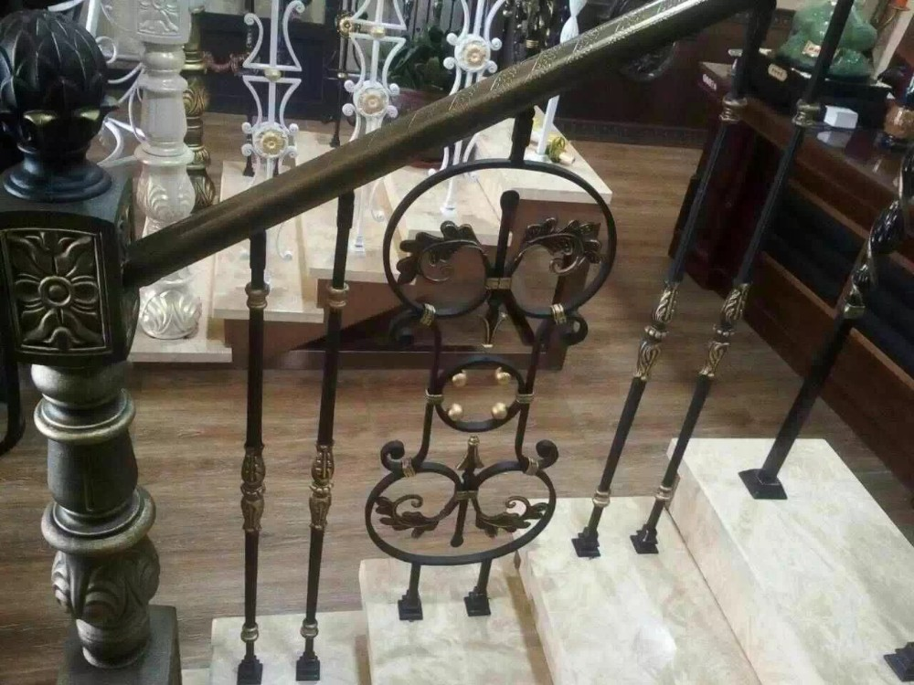 Wrought Iron Morden Garden Stair Railing Designs Iron