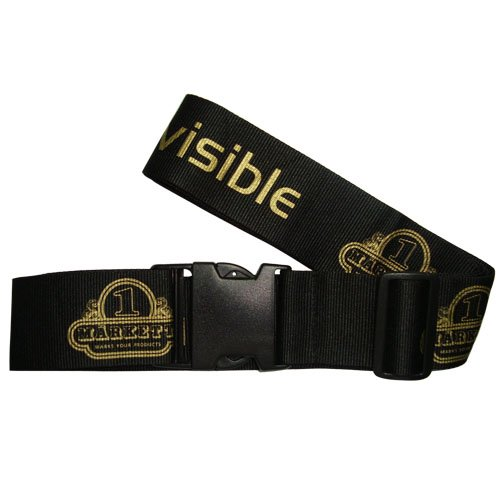 Wholesale Custom Made Logo Polyester Luggage belt Strap with Detach belt clamp