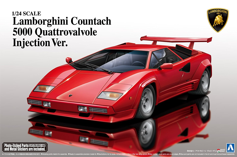 Aoshima 1/24 Super Car Series No.18 Lamborghini Countach 5000qv '88