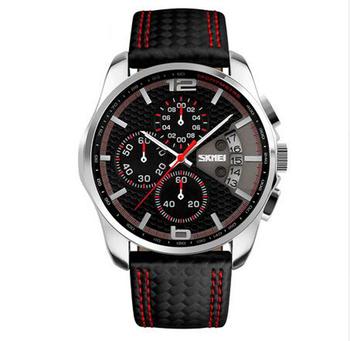 Date Cuir D'affaires Classique 50 Relogio Montre Étanche Hommes Plongeur Bracelet Horloge De Chronographe 9106 Luxe Sport Skmei M En wPZulXTkiO