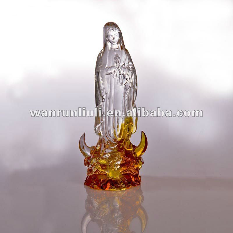 WF301 lead crystal statue -- blessed Virgin Mary
