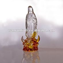 WF301 lead crystal statue-blessed Virgin Mary
