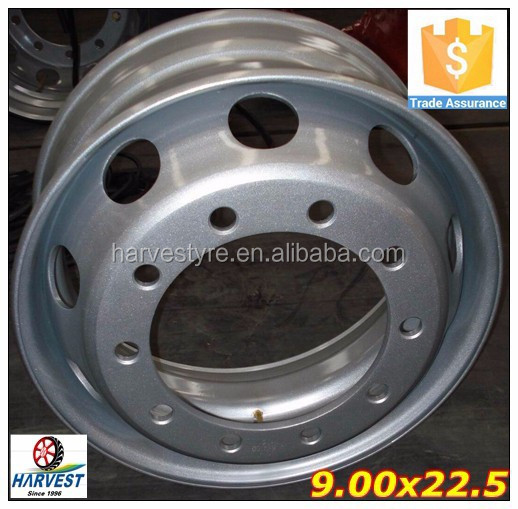 Excellent quality Steel <strong>wheel</strong> for truck tyres 9.00x22.5