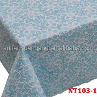 decorative round pvc Lace roll vinyl table cloth