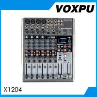Professional Audio Mixing Console X1204USB 8 channel dj mixer sound mixer