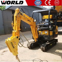 China World mini road constriction equipment used excavator prices