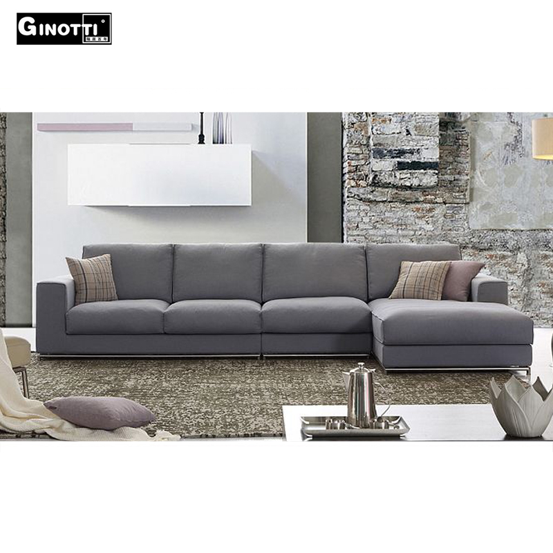 Cheap new design l shaped sofa