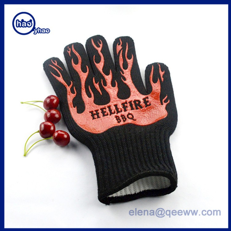 "Extreme Heat Resistant 14"" Long Forearm Protection Grilling Cooking Gloves"