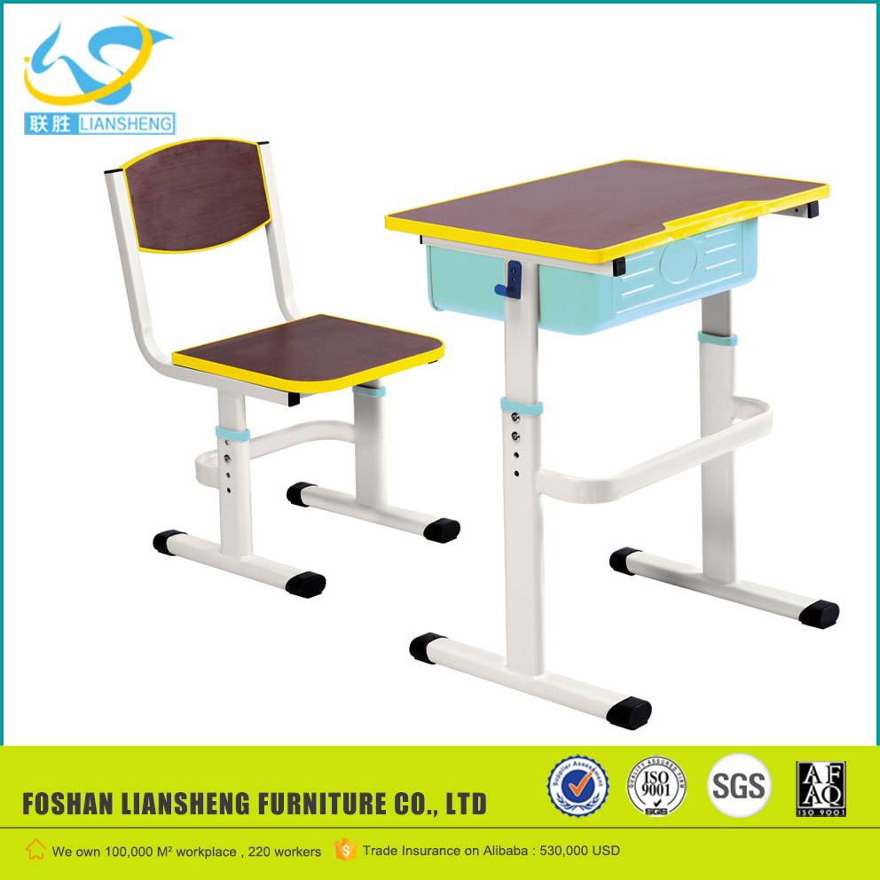 Hot selling table study desk school tables and chairs student desk for using