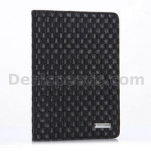 Woven Texture Pattern PC+PU Leather Case for iPad Air 2