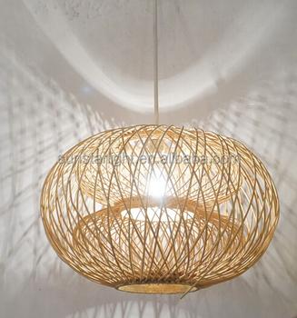 Custom Made China Modern Handmade Natural Material Bamboo Hanging  Chandelier/pendant/lamp/