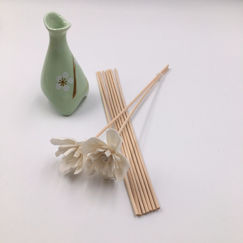 3 White Magnolia Balsa Wood Sola Diffuser Flowers 15 cm Dia.