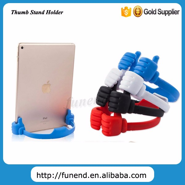 Cute Design Silicone Thumb OK Shape Desktop Cell Phone Holder