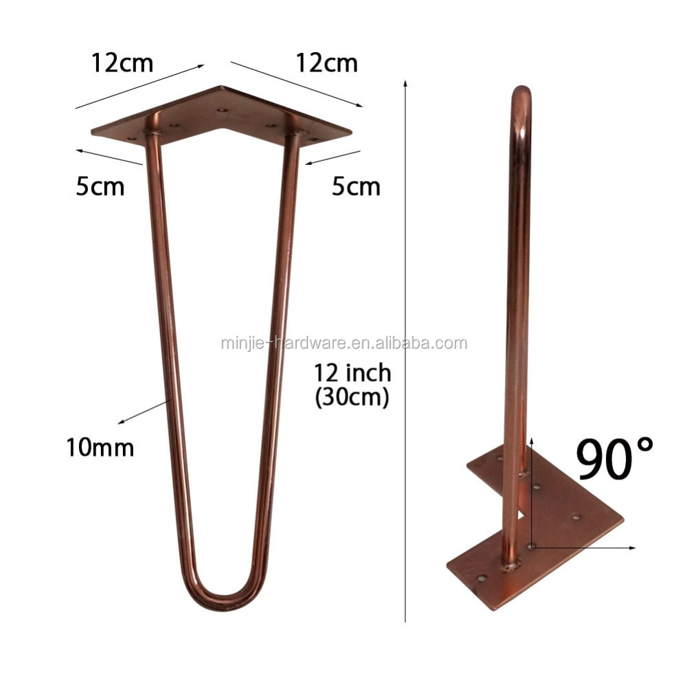 Copper Color Furniture Hairpin Table Legs