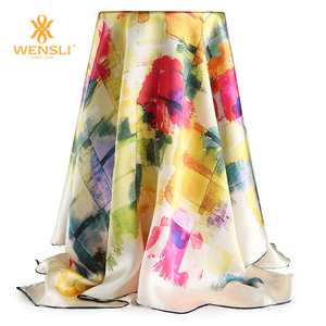 Custom Silk Scarf Photo Print Scarf Women