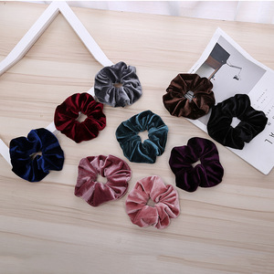 Bulk various velvet ponytail holders scrunchies girl's hair ties