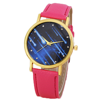 de130cce91357 New Designer Geneva Brand Meteor shower Face Pu Leather Women's Watches Hot  sale watches lady, View Women's Watches, no logo Product Details from ...
