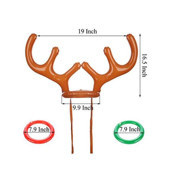 Weihnachten Urlaub Partei Spiel Aufblasbare Rentierhorn Hut Ring