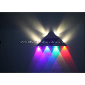 AC85V-265V High quality 3W 4W 5W 8W Wall lamps Home Bedroom Bar Corner KTV Red Green Blue Purple LED Lamp