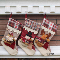 New Year Lovely Vintage Christmas Gift Stocking Tree Party Decoration