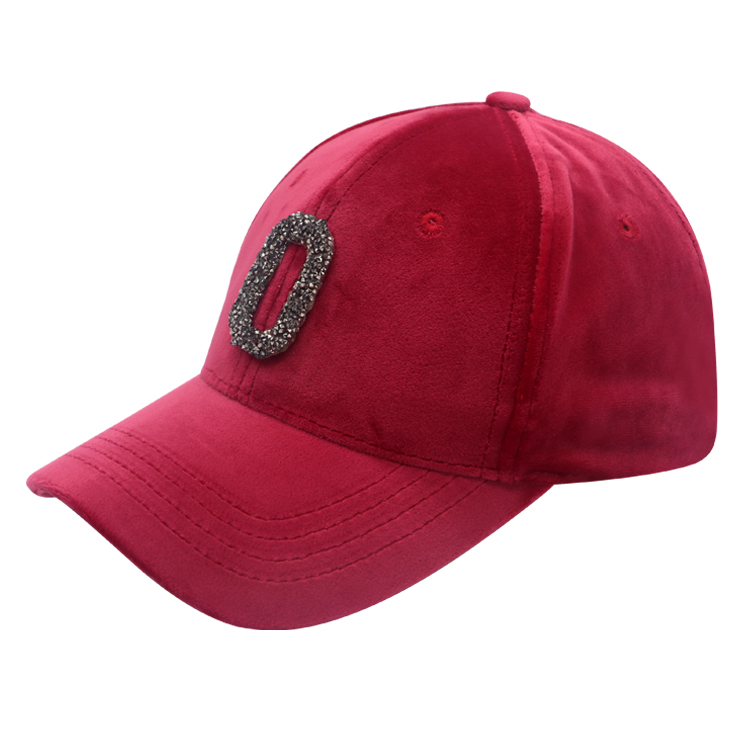 Hot wholesale custom velvet dad hats caps baseball hats with diamond logo