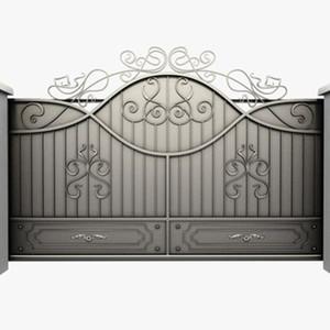 Simple House Sliding Wrought Iron Main Gate Designs