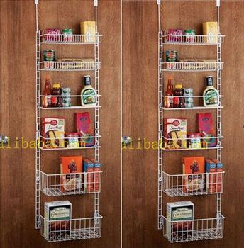 Overdoor Storage Basket Rack