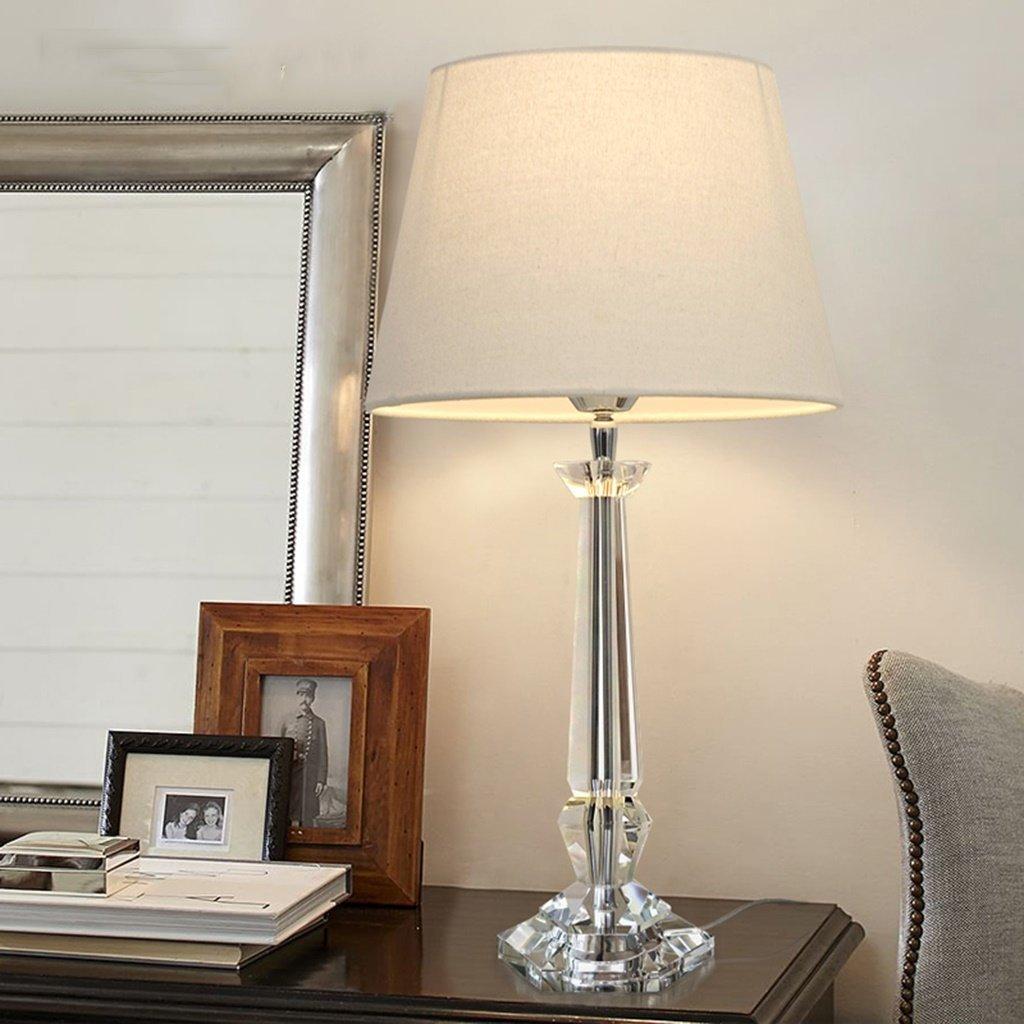 WENBO HOME- Table Lamp Bedroom Bedside Creative European Simple Modern Warm Crystal Table Lamp Bedside Lamp -Desktop lamp