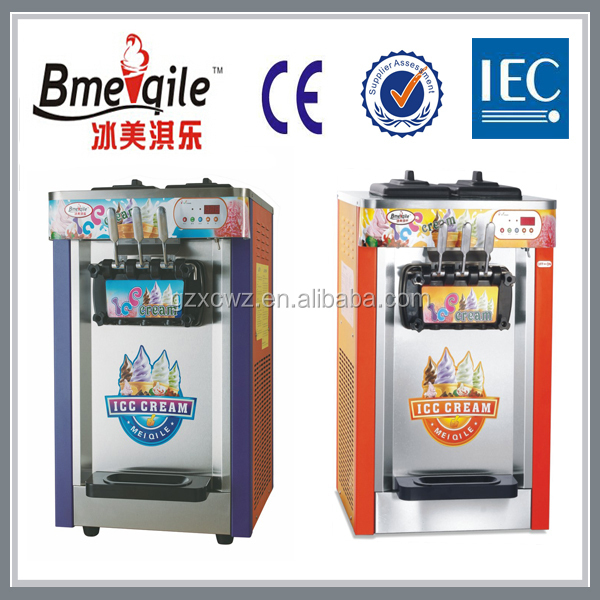 Chinese Hot Sale Tabletop commercial stainless steel frozen yogurt Three Flavour soft sever Ice Cream making Machine