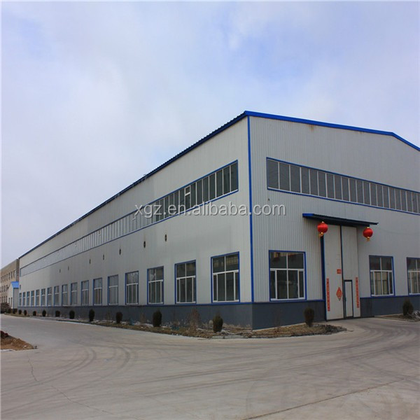 large span structrual prefab engineered steel frame building